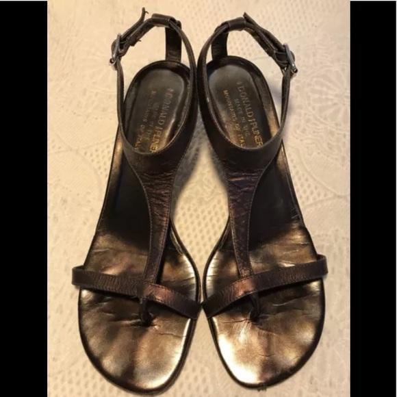 9c719ca43 Donald J. Pliner Shoes - Donald J Pliner bronze t-strap kitten heel sandals